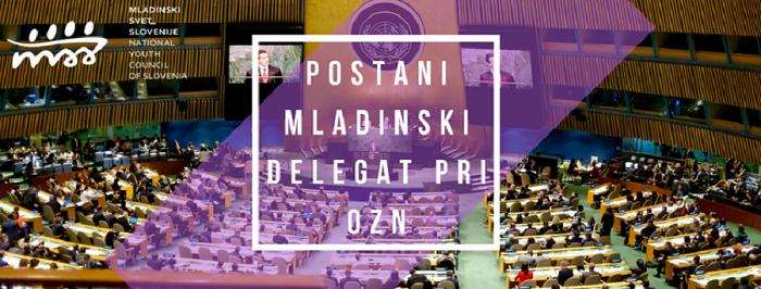 Razpis za mladinskega delegata pri OZN