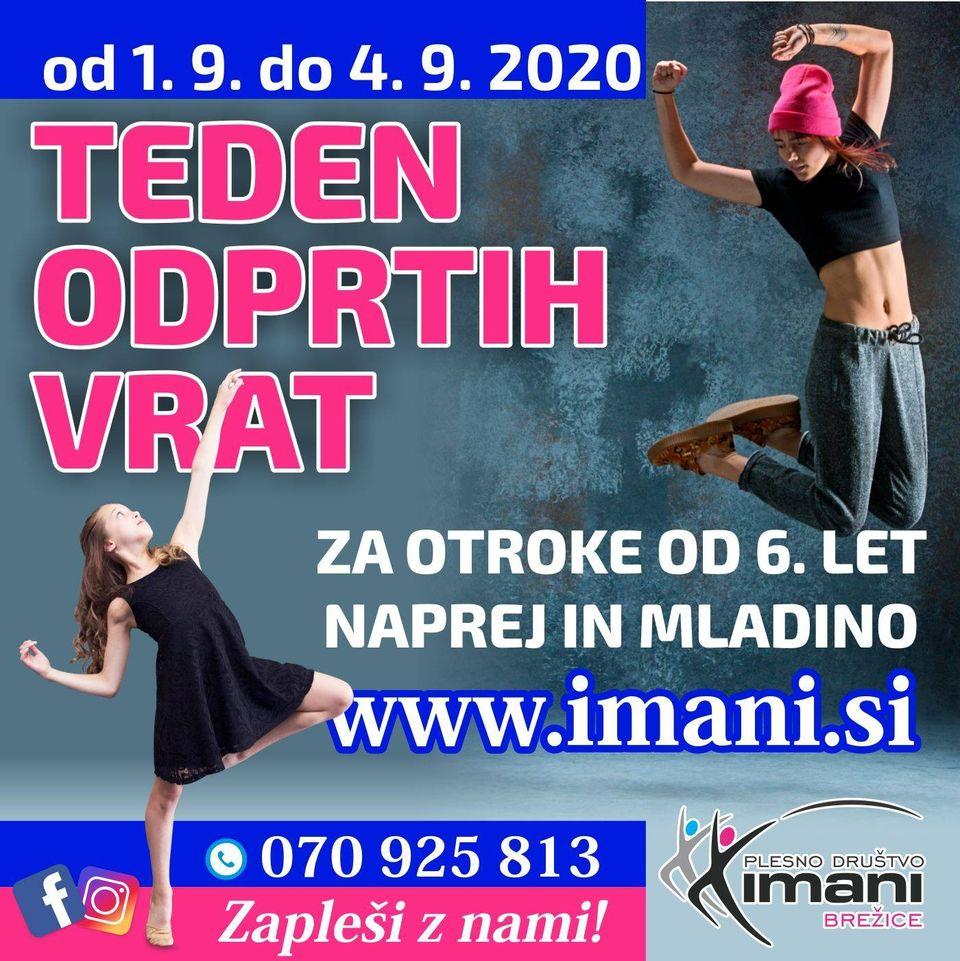 Teden odprtih vrat: Plesno društvo Imani