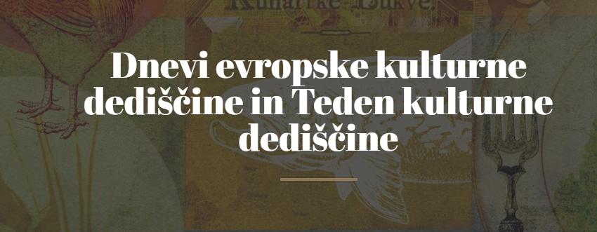 Spletno srečanje Dnevov evropske kulturne dediščine in Tedna kulturne dediščine