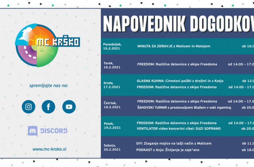 Napovednik dogodkov v MC Krško od 15.2. do 20.2.2021