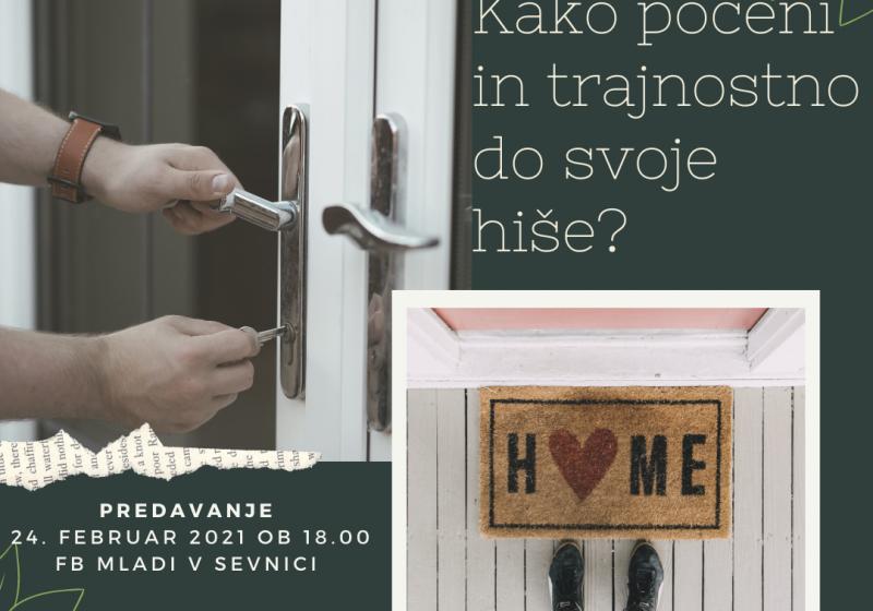 Kako poceni in trajnostno do svoje hiše