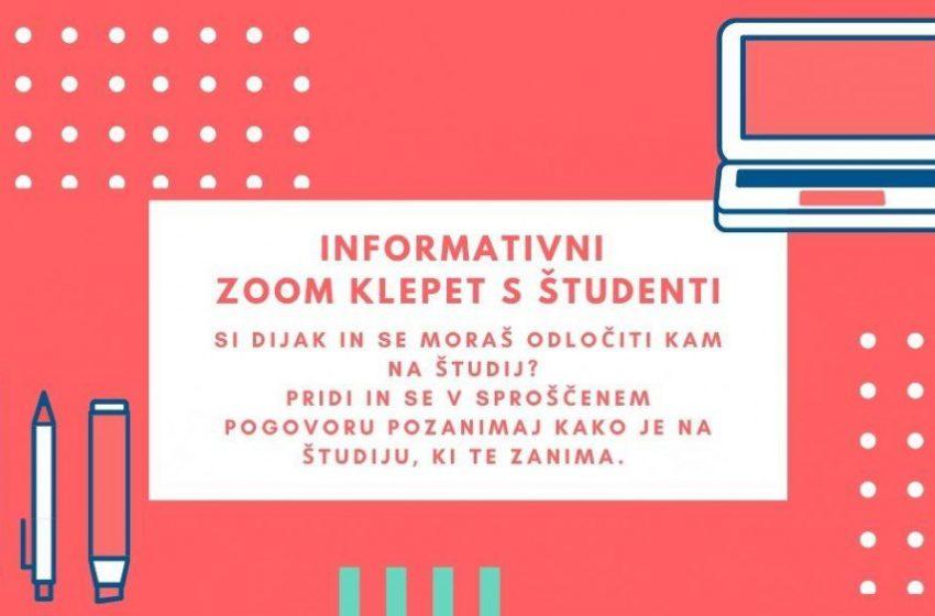 Informativni Zoom klepet s študenti