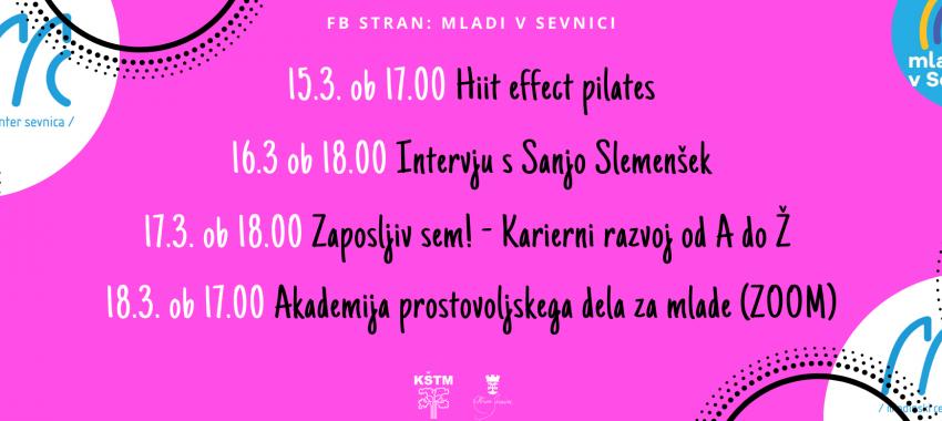 Dogodki na strani Mladi v Sevnici