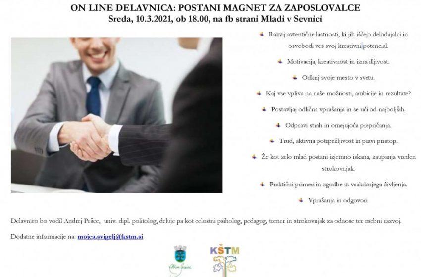 On-line delavnica: Postani magnet za zaposlovalce