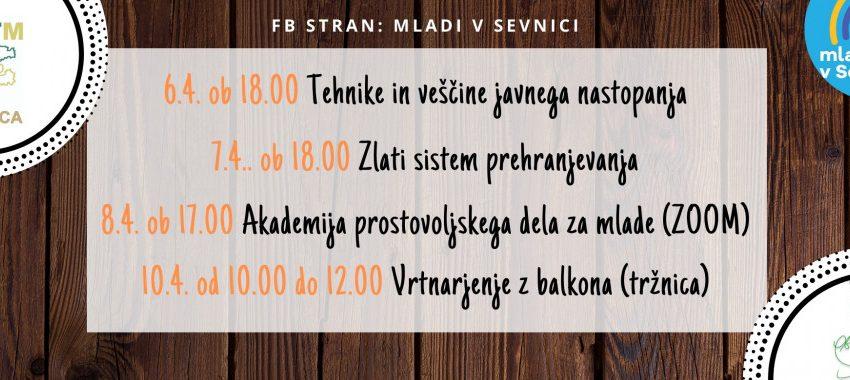 Napovednik dogodkov v MC Sevnica od 6. do 10.4.2021