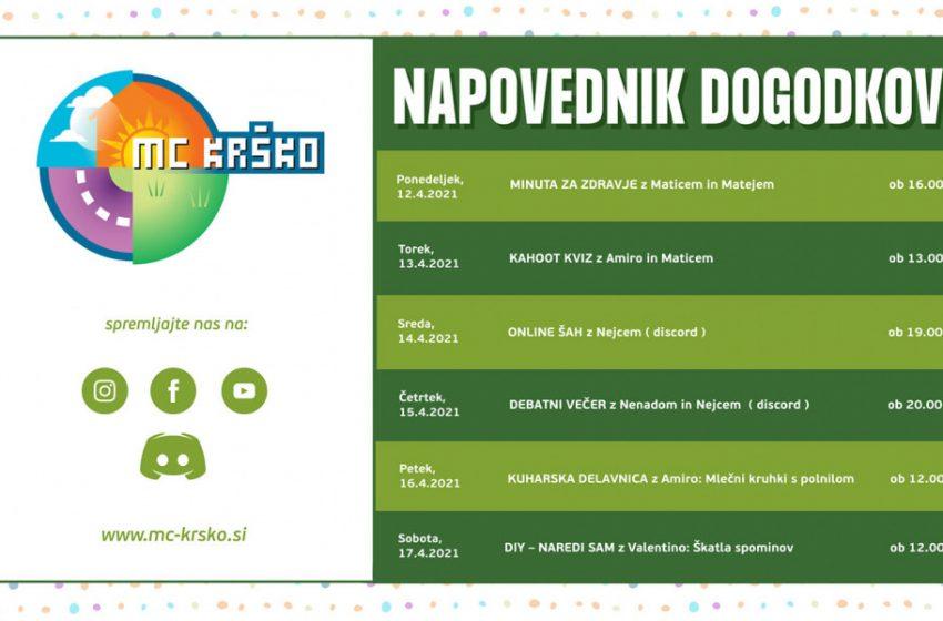 Napovednik dogodkov v MC Krško od 12. do 17.4.2021