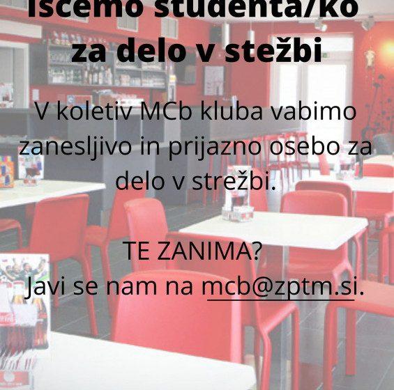 Študentsko delo: Strežba (M/Ž)