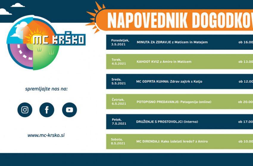 Napovednik dogodkov v MC Krško od 3.5. do 8.5.2021