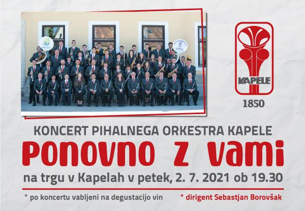Koncert Pihalnega orkestra: Ponovno z vami