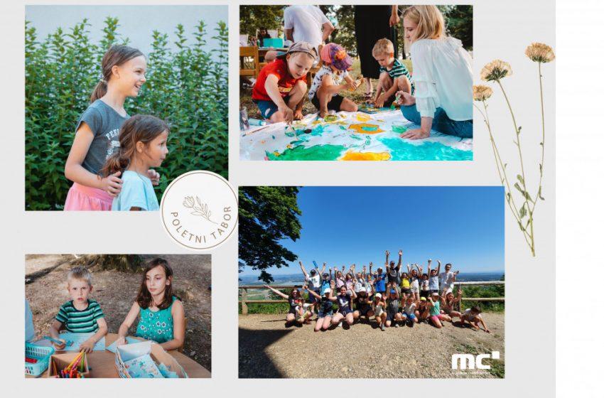 Utrinki iz otroško-mladinskega poletnega tabora v MC Brežice